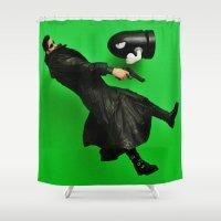 matrix Shower Curtains featuring Matrix by Beastie Toyz