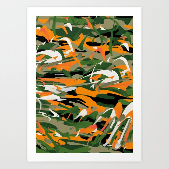 Abstract Camouflage Art Print