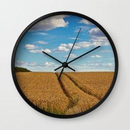 In Golden Fields Wall Clock