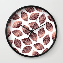 Sunshine leaves Red Wall Clock