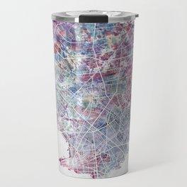Montevideo Map Travel Mug