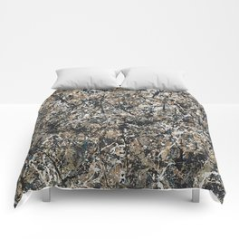 Jackson Pollock - One: No. 31, 1950 - Exhibition Poster Comforters
