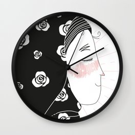 confident fatima / illustration Wall Clock