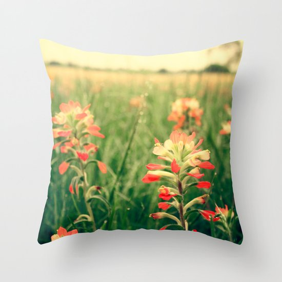 Wild flowers! Throw Pillow