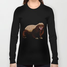 Honey badger illustration Long Sleeve T-shirt