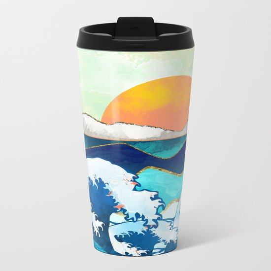 Stormy Waters Metal Travel Mug