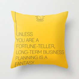 Startup Quote Poster Throw Pillow