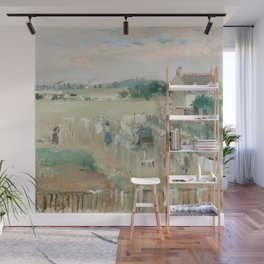 Hanging the Laundry out to Dry by Berthe Morisot Wall Mural