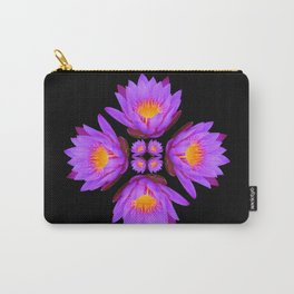 Purple Lily Flower - On Black Carry-All Pouch