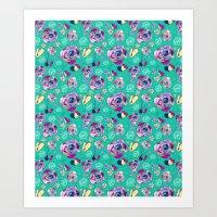 Colorful Roses II Art Print