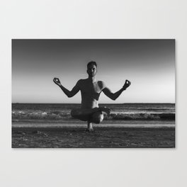 Lifted Lotus Toe Stand Canvas Print