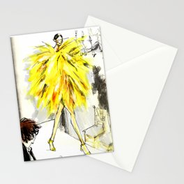 Yellow pop up #society6 Stationery Cards