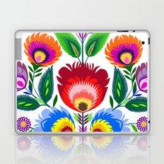 colorful folk flowers Laptop & iPad Skin