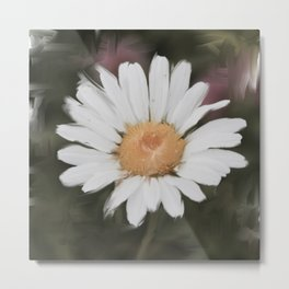 Painted Daisy Metal Print
