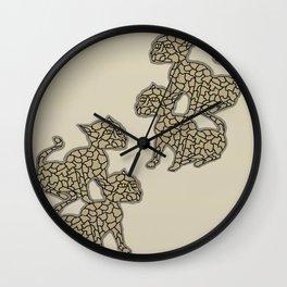 Twin Cats Wall Clock
