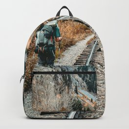 Autumn Tracks // Backpacking the Railroad Fall Tree Landscape with Black Dog Backpack