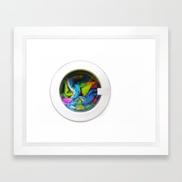 washing machine Framed Art Print