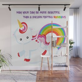 Unicorn Farts and Beautiful days Wall Mural