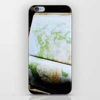 vintage map iPhone & iPod Skins featuring Vintage Map by Katie Yang