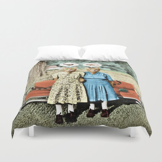 Two Cool Kitties: What's for Lunch? Duvet Cover