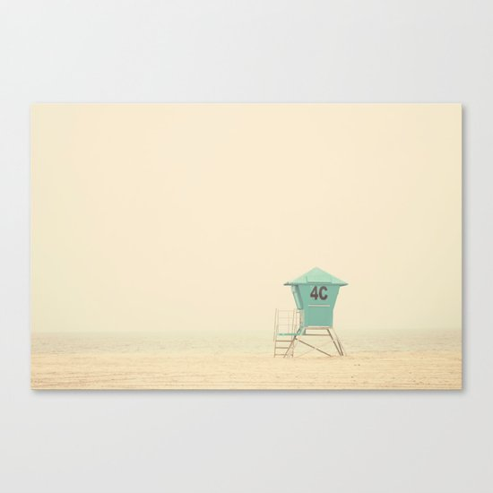 the sound of outer ocean on a beach ... Canvas Print