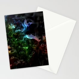 Liquid Rainbow Obsidian Stationery Cards