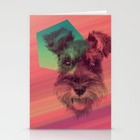 schnauzer Stationery Cards featuring Schnauzer by MOSAICOArteDigital