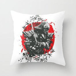 Black Samurai Throw Pillow