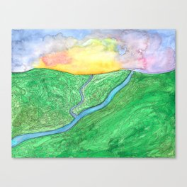 Morning Over the Valley Canvas Print