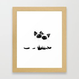 Siamese Kitten Framed Art Print