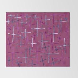 Croisement violet2 Throw Blanket