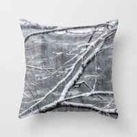 river song Throw Pillows featuring Winter's Song by Joann Vitali