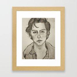 Cole Sprouse Portrait Framed Art Print