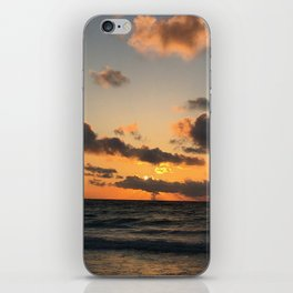 Orange Sunset Skies in Tulum iPhone Skin