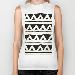 Tribal Chevron Stripes Biker Tank