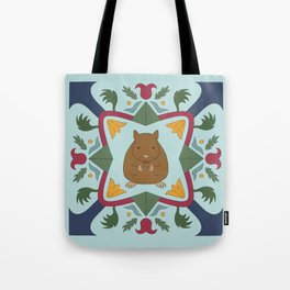 Mouse German Hex Folk Art Tote Bag
