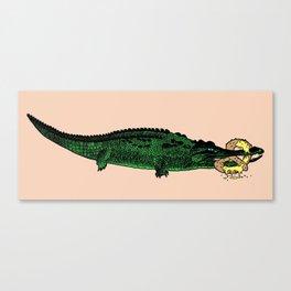 Pretzel Croc Canvas Print