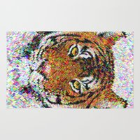 tiger Area & Throw Rugs featuring Tiger by David Zydd