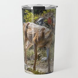 Crossing Paths with a Black-Tailed Deer Travel Mug