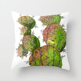 Big Old Stingy Cactus Throw Pillow
