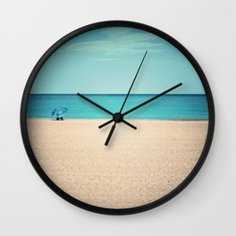 A Beautiful Spring Day at the Beach III Wall Clock