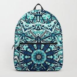 Green Blue Black Mandala  Psychedelic Pattern Backpack