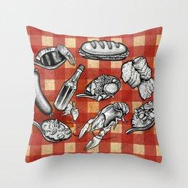 Cajun Food! Throw Pillow
