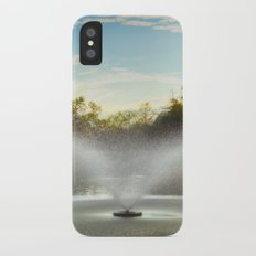 Fountain in New Orleans Slim Case iPhone X