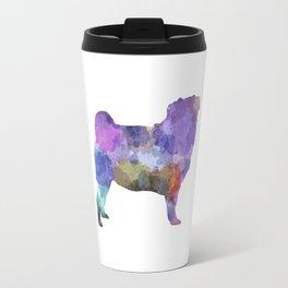 Pug 02 in watercolor Travel Mug