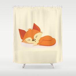A cute fox sleeping Shower Curtain