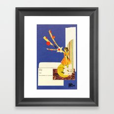 Composition on Blue Framed Art Print