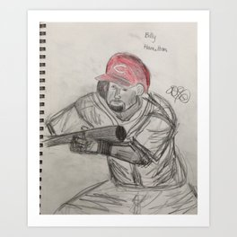 Billy Hamilton bunting Art Print