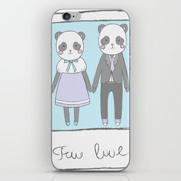 Pandas in love iPhone Skin