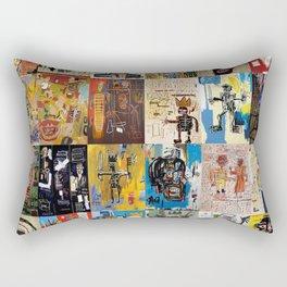 Basquiat Montage Rectangular Pillow